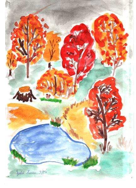 нарисованные картинки карандашом про осень